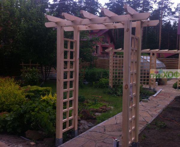 Перголы и арки из дерева для дачи своими руками фото для начинающих 18